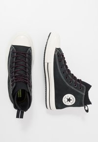 Converse - CHUCK TAYLOR ALL STAR WP - Korkeavartiset tennarit - black/egret - 1