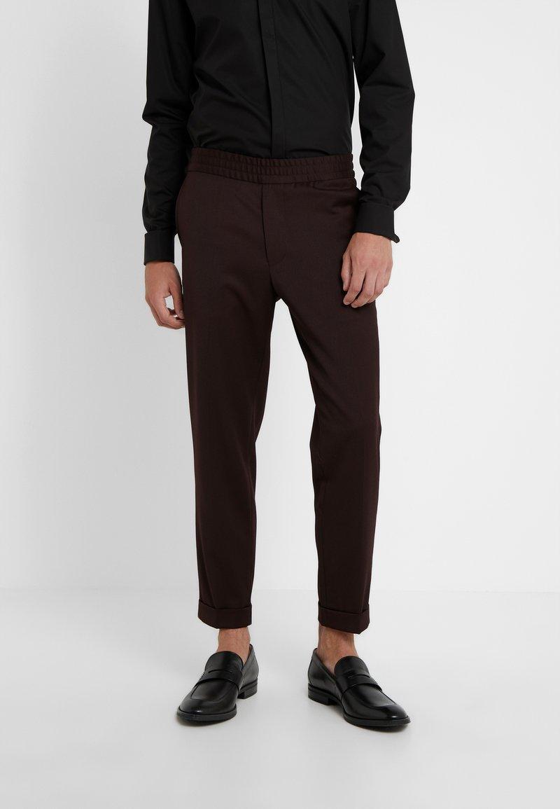 Filippa K - TERRY CROPPED PANTS - Trousers - deep shira