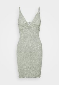 Object Petite - OBJLEVENTA STRAP DRESS - Shift dress - desert sage - 0