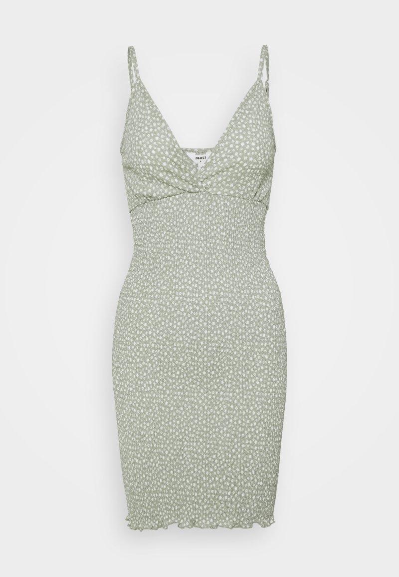 Object Petite - OBJLEVENTA STRAP DRESS - Shift dress - desert sage