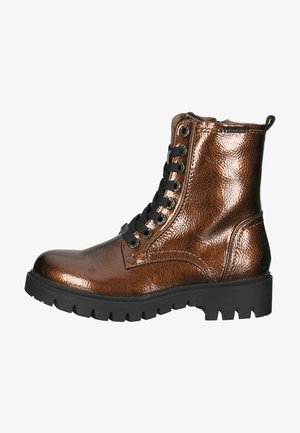 Lace-up ankle boots - bronze