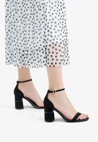 Bershka - High heeled sandals - black - 0