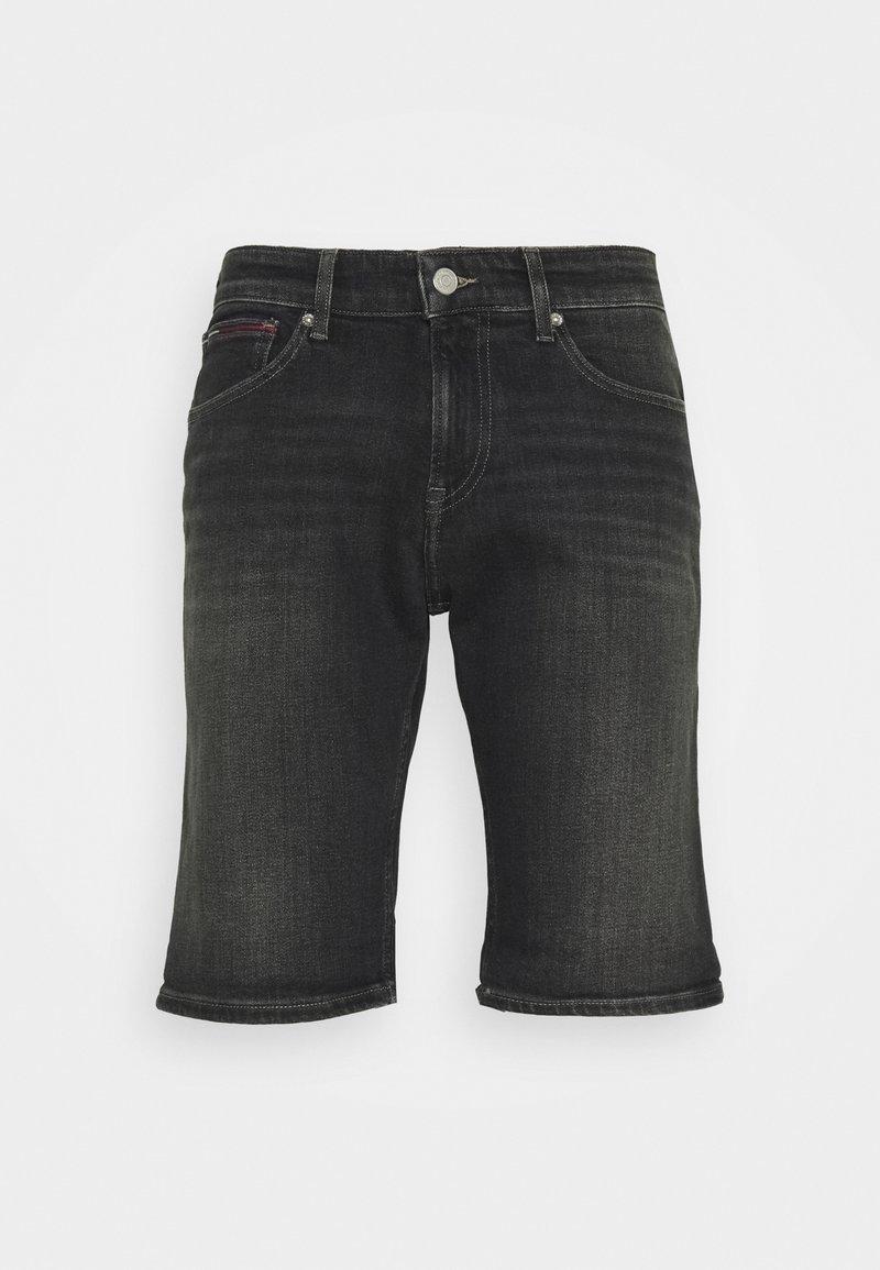 Tommy Jeans - SCANTON SLIM - Džínové kraťasy - denim black