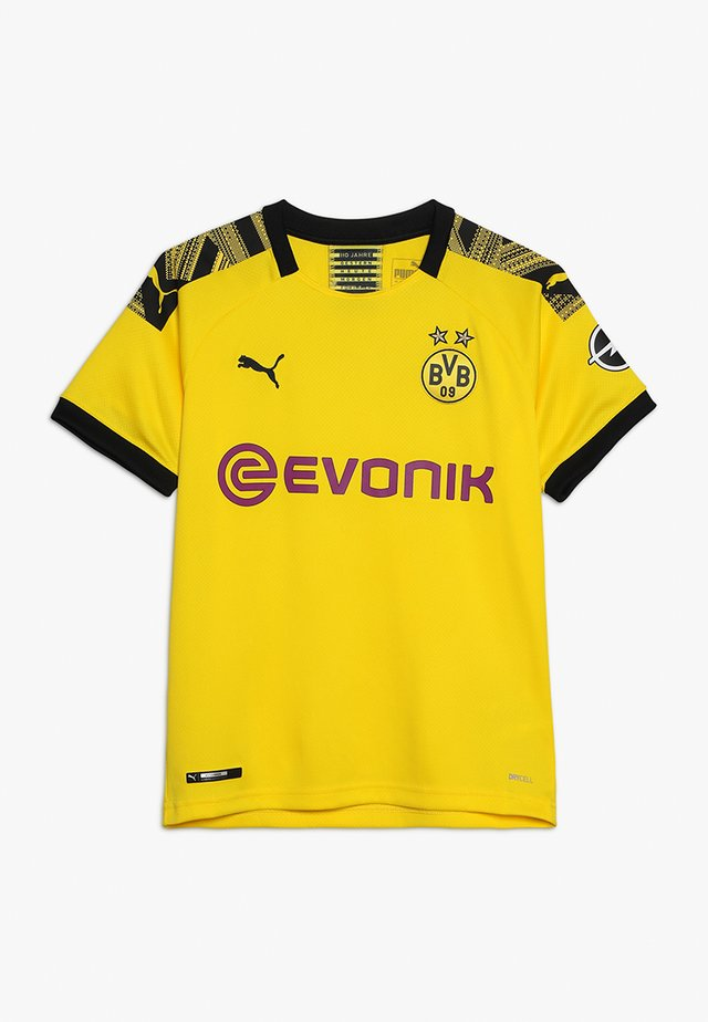 BVB BORUSSIA DORTMUND HOME REPLICA WITH EVONIK LOGO - Club wear - cyber yellow/black