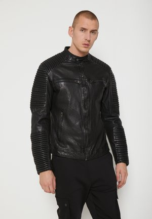 BEBAKER - Leather jacket - black