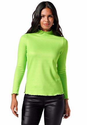 Long sleeved top - neongrün