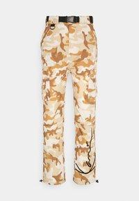 Karl Kani - SIGNATURE CAMO CRINCLE PANTS - Cargo trousers - beige/sand - 4