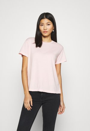 SHORT SLEEVE ROUND NECK - Camiseta básica - rose cream