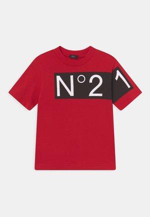 OVER UNISEX - T-Shirt print - intense red