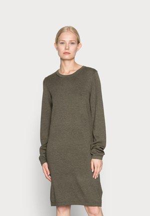 DRESS - Neulemekko - dark khaki