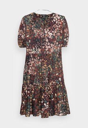 FLOWER DRESS - Jurk - black