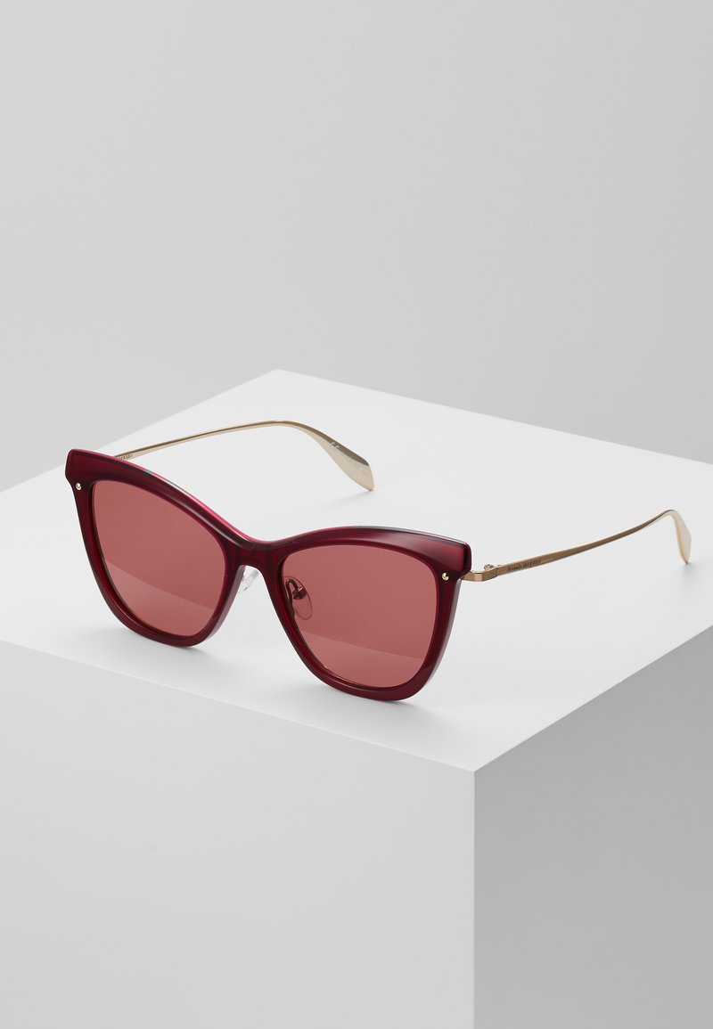 Alexander McQueen - SUNGLASS WOMAN - Sunglasses - burgundy/gold-coloured/red