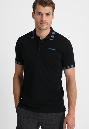 PASIAN - Polo - noir/snorkle blue