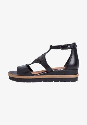 Wedge sandals - black comb