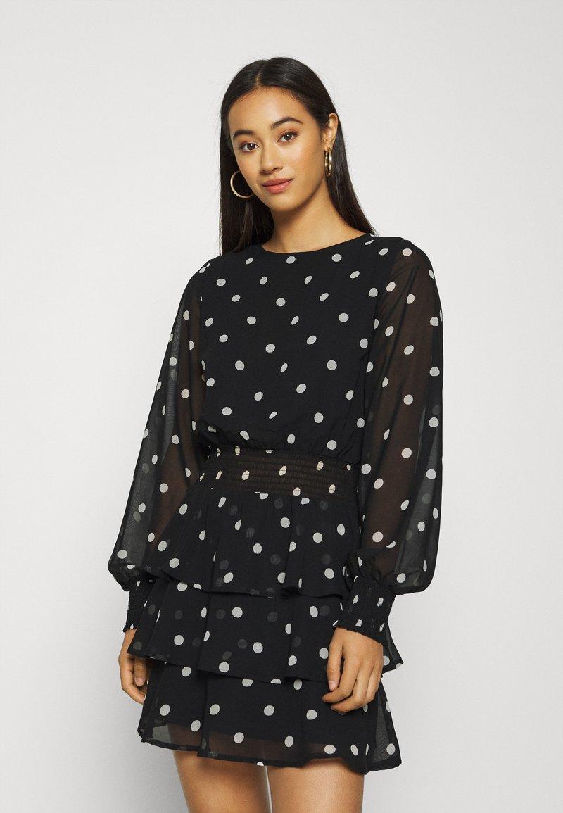 Gina Tricot - ALVA DRESS EXCLUSIVE - Day dress - black/white