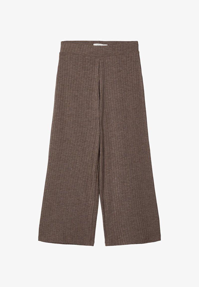 Name it - MIT WEITEM BEIN 7/8-LANGE GERIPPTE - Trousers - deep taupe