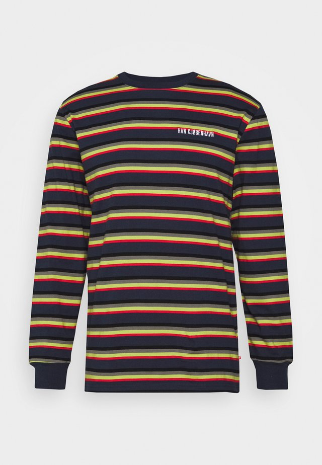 CASUAL LONG SLEEVE TEE - Long sleeved top - blue