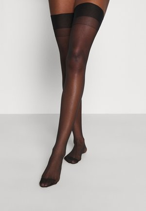 STOCKINGS PLAIN LEG - Bas - black