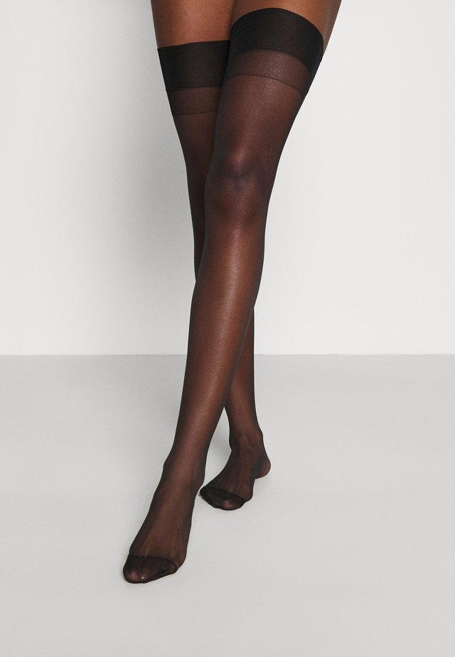STOCKINGS PLAIN LEG - Overknæstrømper - black