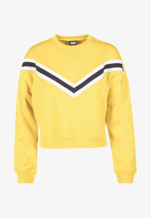 STRIPED CREW - Sweatshirt - yellow