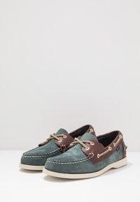 Sebago - DOCKSIDES PORTLAND SPINNAKER  - Boat shoes - blue navy/dark brown - 2