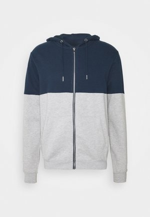 Sweatjacke - mottled grey/dark blue