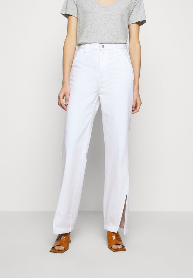 BRAIDED TROUSER JOAN - Flared jeans - braided white