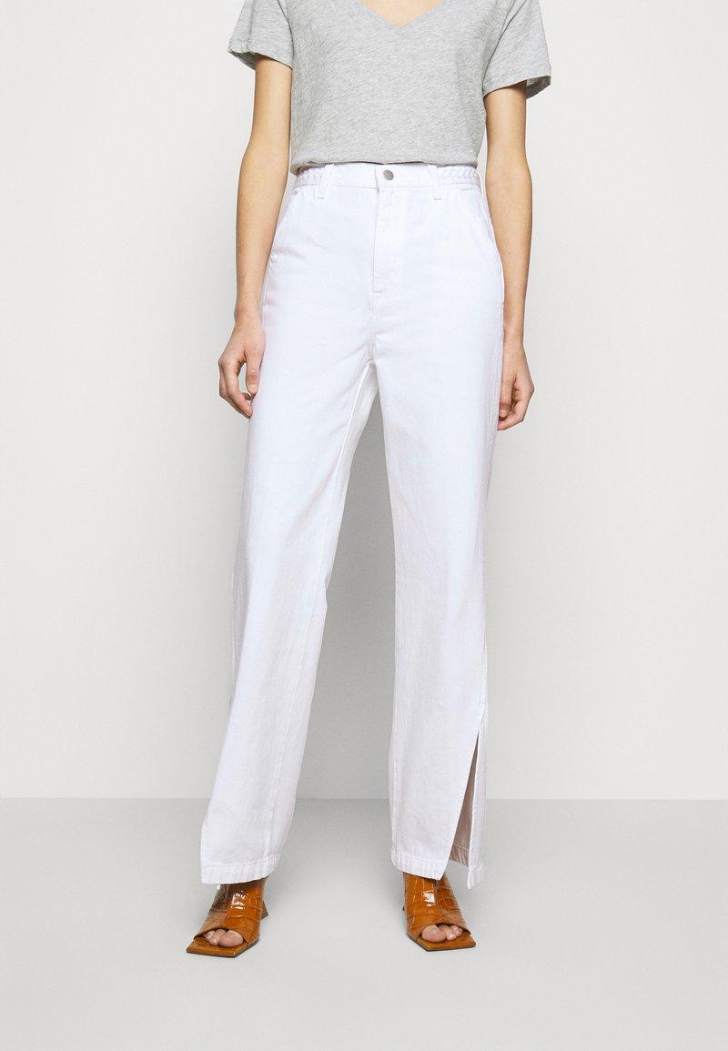 J Brand - BRAIDED TROUSER JOAN - Flared Jeans - braided white