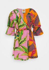 Farm Rio - MIXED  MINI WRAP DRESS - Vestito estivo - pink - 0