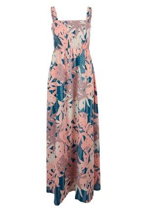 GESMOKTES - Maxi dress - coral aop