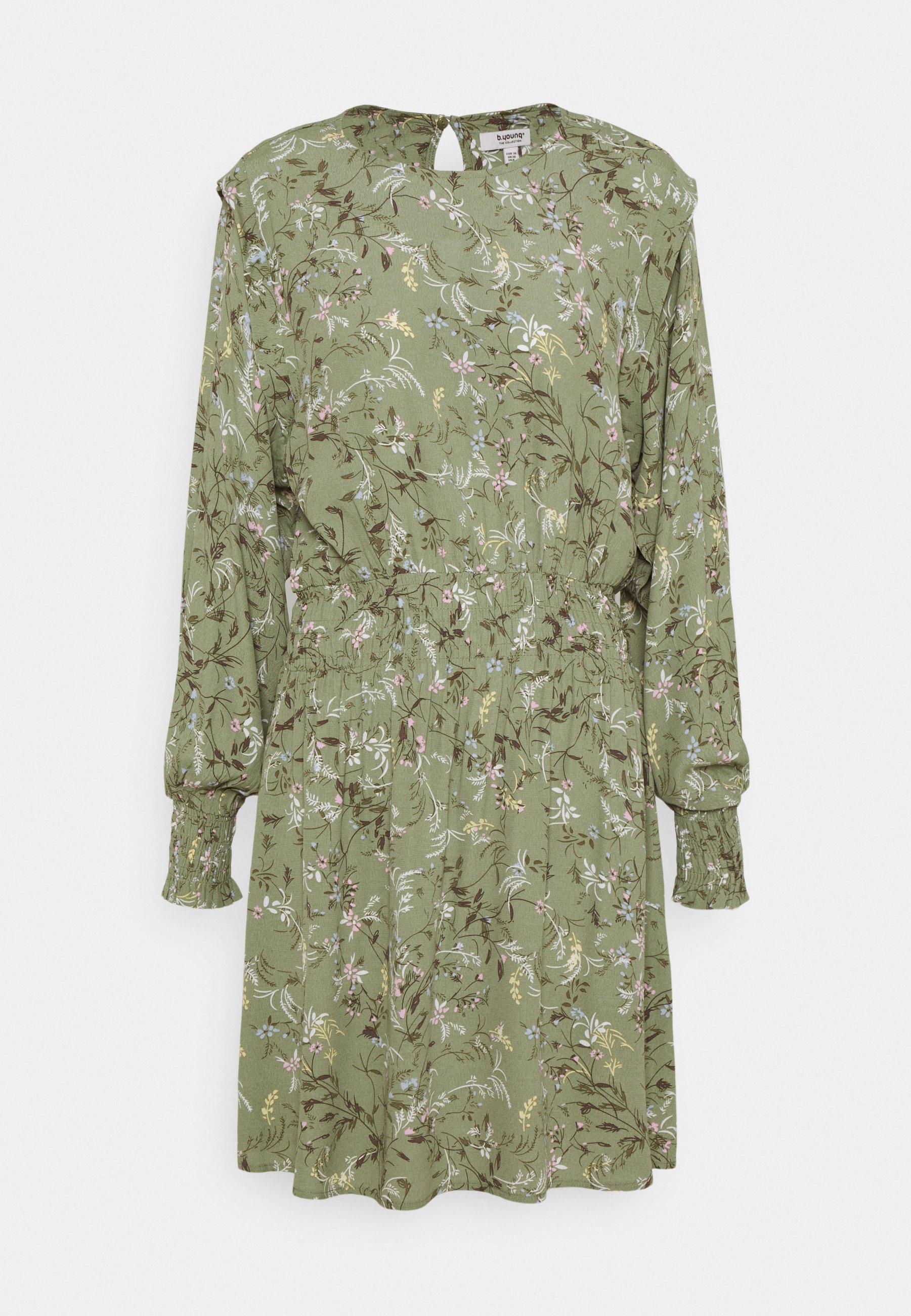 Women FLAMINIA DRESS  - Day dress - oil green