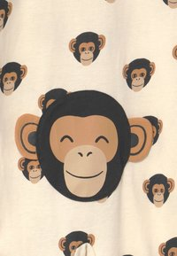 Lindex - MONKEY FACES UNISEX - Pyjamas - light beige
