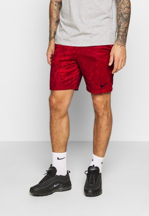 DRY SHORT - kurze Sporthose - university red/black