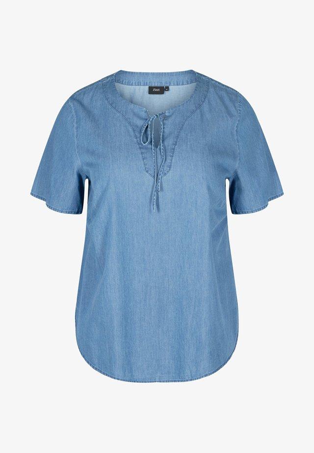Blouse - medium blue denim