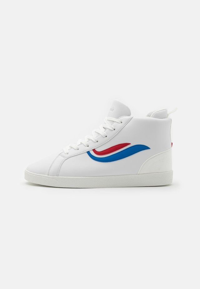 HELÀ MID UNISEX - Sneakers alte - white/red/blue