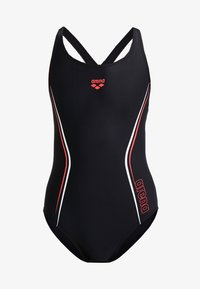 Arena - STRAIGHTLINE SWIM PRO ONE PIECE - Swimsuit - black/red/white - 3