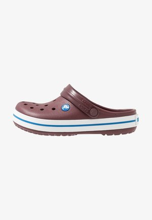 CROCBAND UNISEX - Clogs - burgundy/white