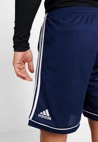 adidas Performance - SQUADRA CLIMALITE FOOTBALL 1/4 SHORTS - Sportovní kraťasy - dark blue/white - 5