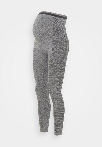 MLELISSHA ACTIVE TIGHTS - Leggings - Trousers - dark grey melange