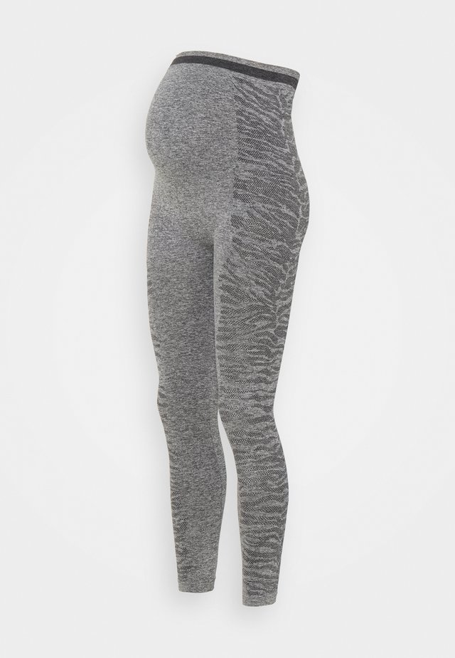 MLELISSHA ACTIVE TIGHTS - Leggings - dark grey melange
