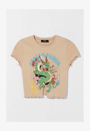 GEKRÄUSELTES - T-shirt print - camel