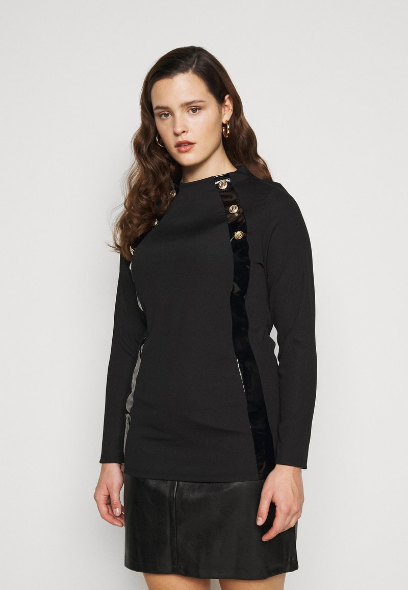 River Island Plus - Long sleeved top - black