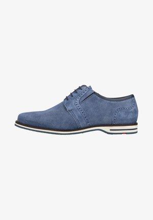 Sznurowane obuwie sportowe - blue denim