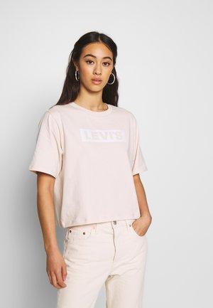 GRAPHIC BOXY TEE - Print T-shirt - peach blush