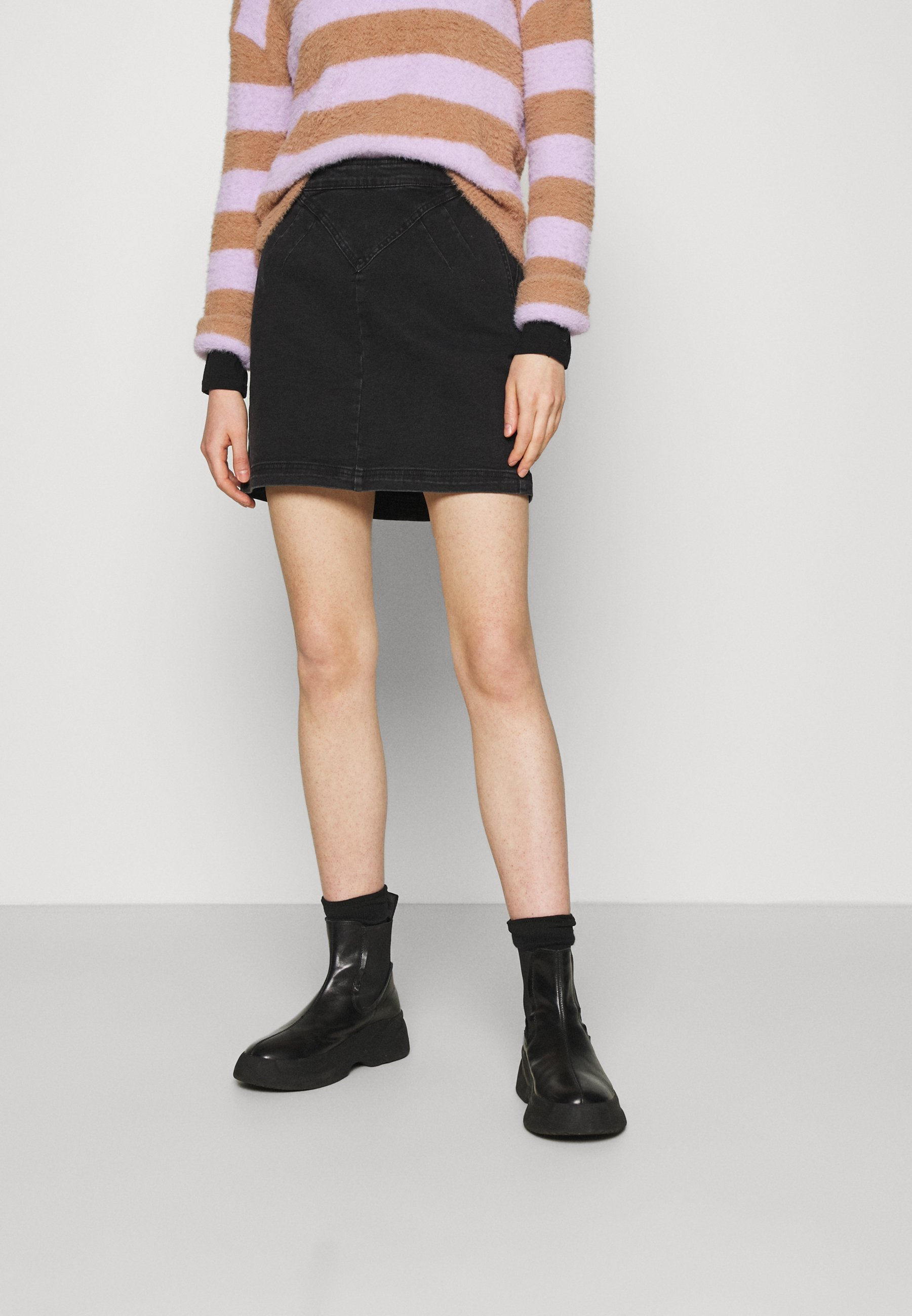 Femme NMINCI HW CUT DETAIL SKIRT - Minijupe