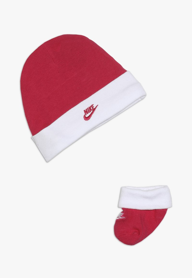 Nike Sportswear - FUTURA HAT AND BOOTIE BABY SET - Bonnet - rush pink