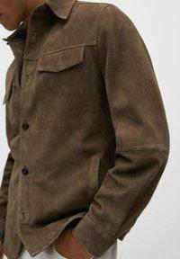 Mango - Leather jacket - hellbraun/pastellbraun - 4