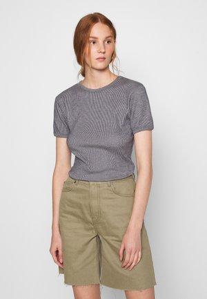 VALOW - Print T-shirt - carbone ecru