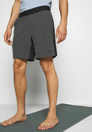 SHORT YOGA - Sports shorts - black/iron grey