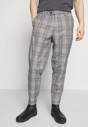 LARGE CHECK TROUSER WITH CHAIN - Stoffhose - orange